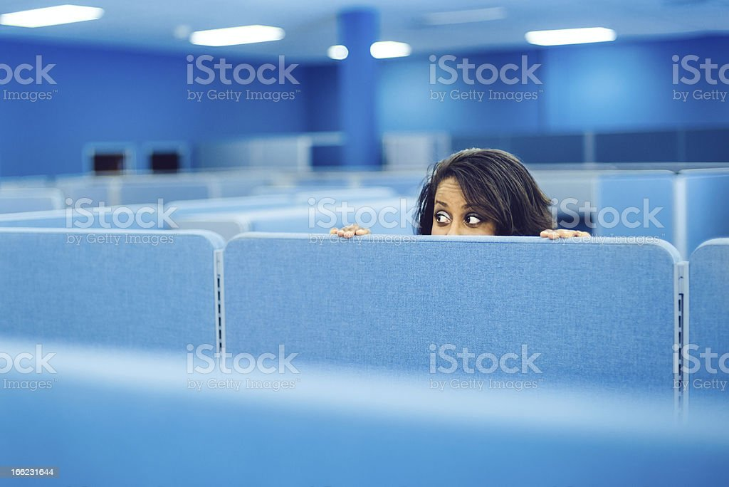 Office Worker Hiding stock photo