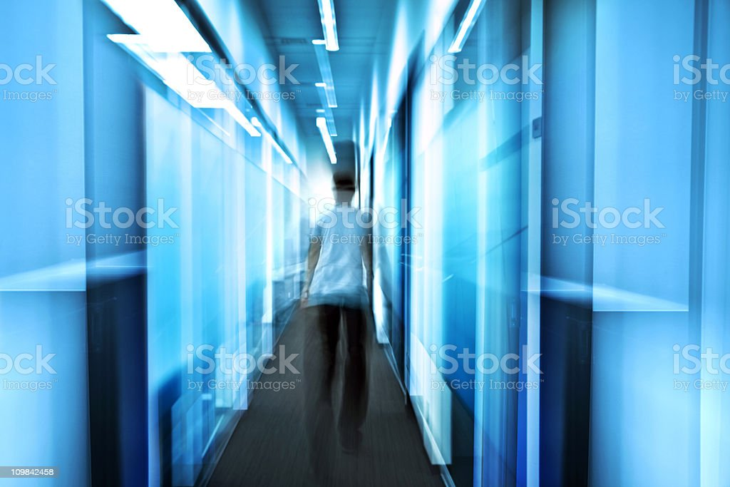 office worker in motion royalty-free stock photo