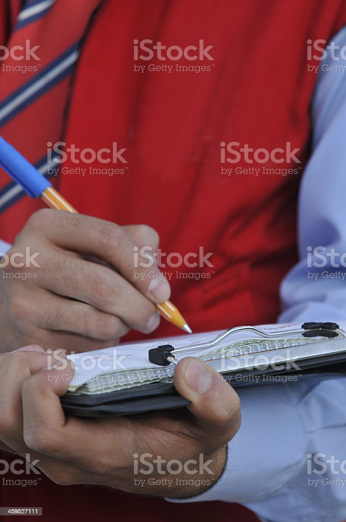 Office worker. stock photo