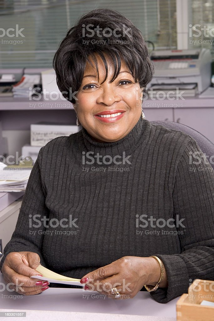 Office Worker Smile stock photo