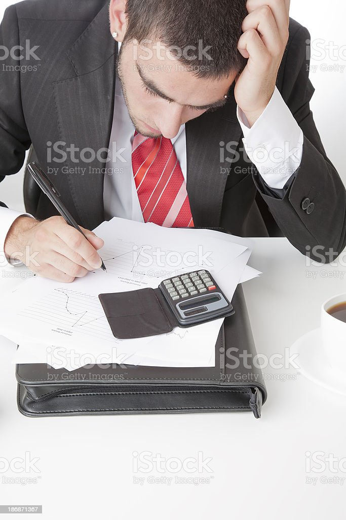 Office worker under pressure royalty-free stock photo