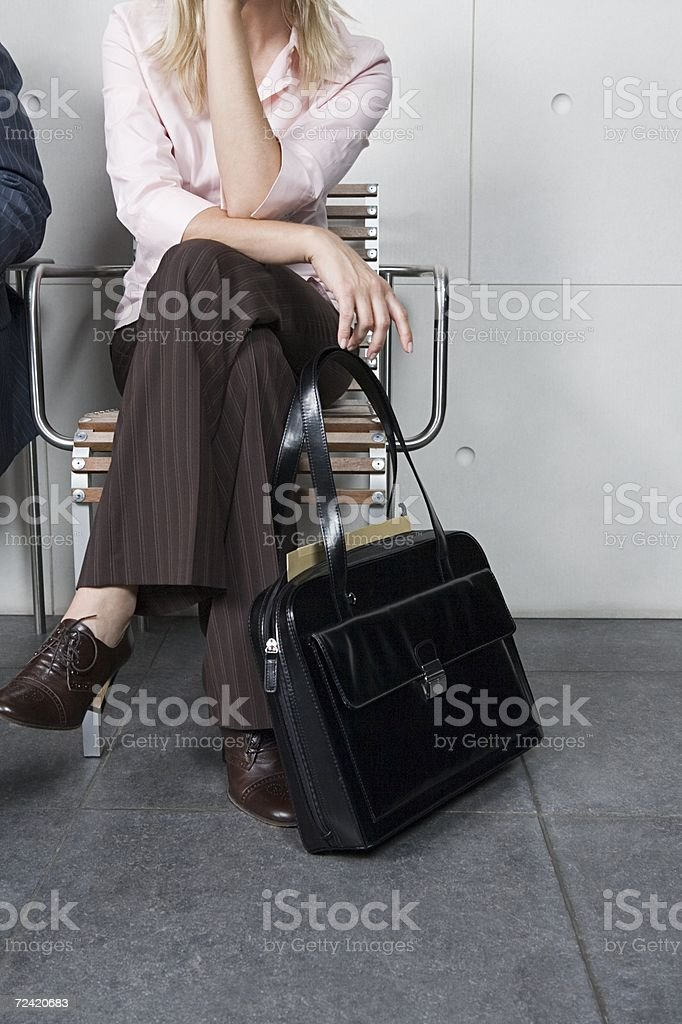 Office worker waiting royalty-free stock photo