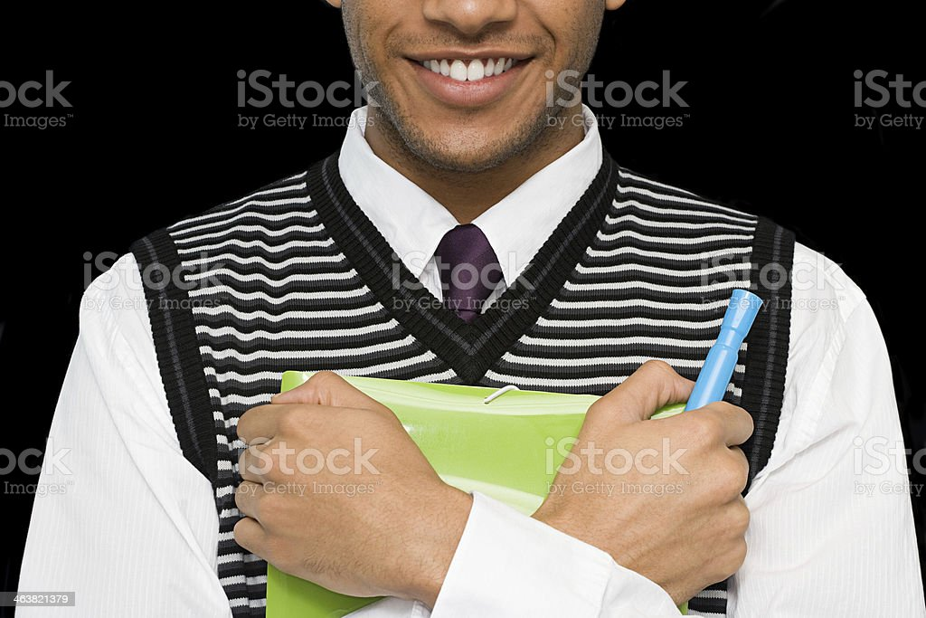 Office worker with file stock photo
