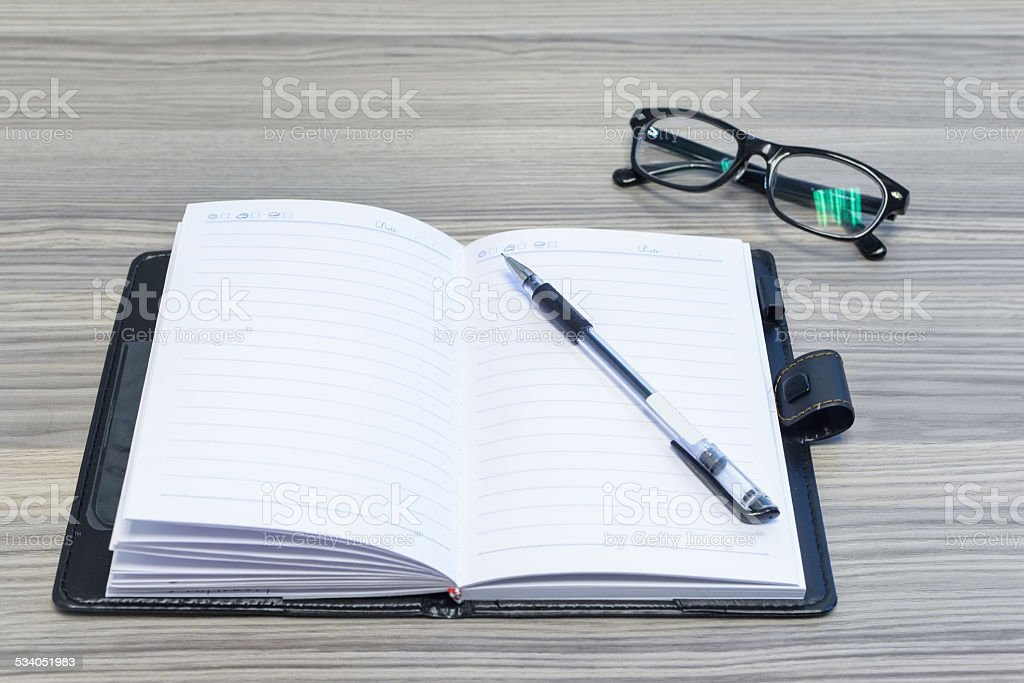 office worker's eyes protection stock photo