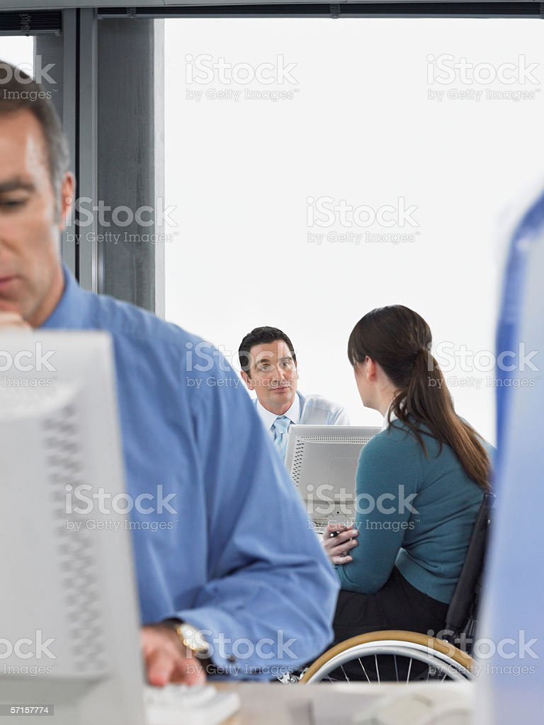 Office workers in meeting royalty-free stock photo