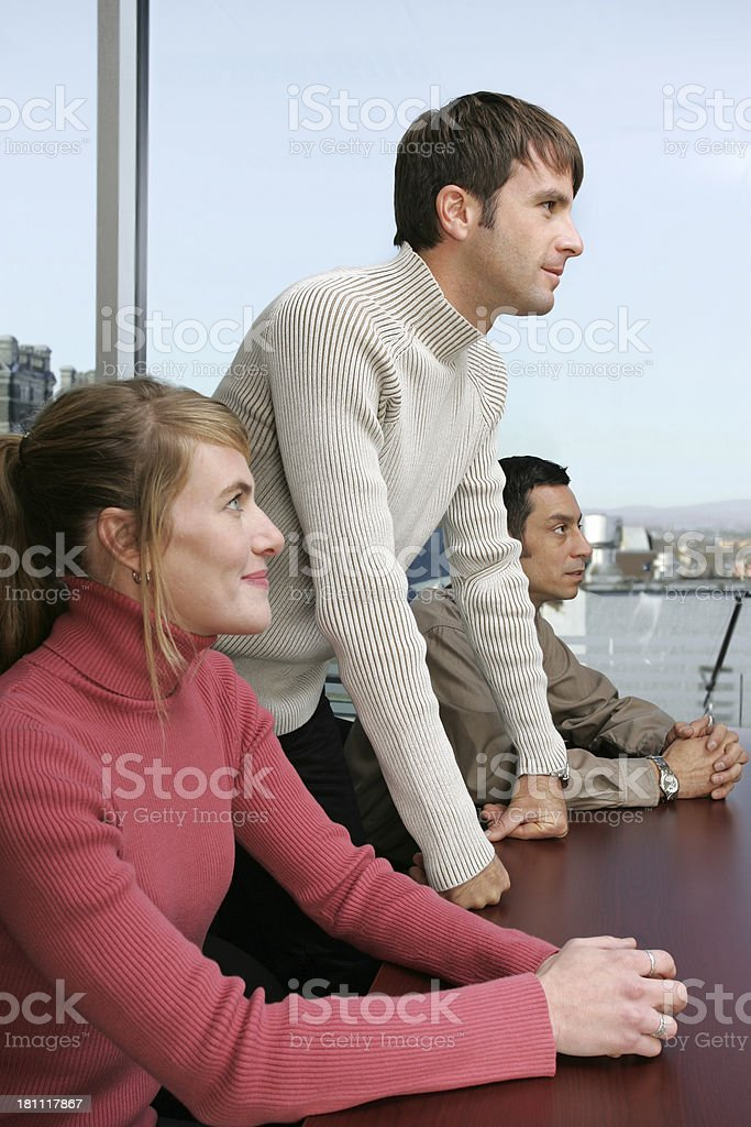 Office workers listening royalty-free stock photo