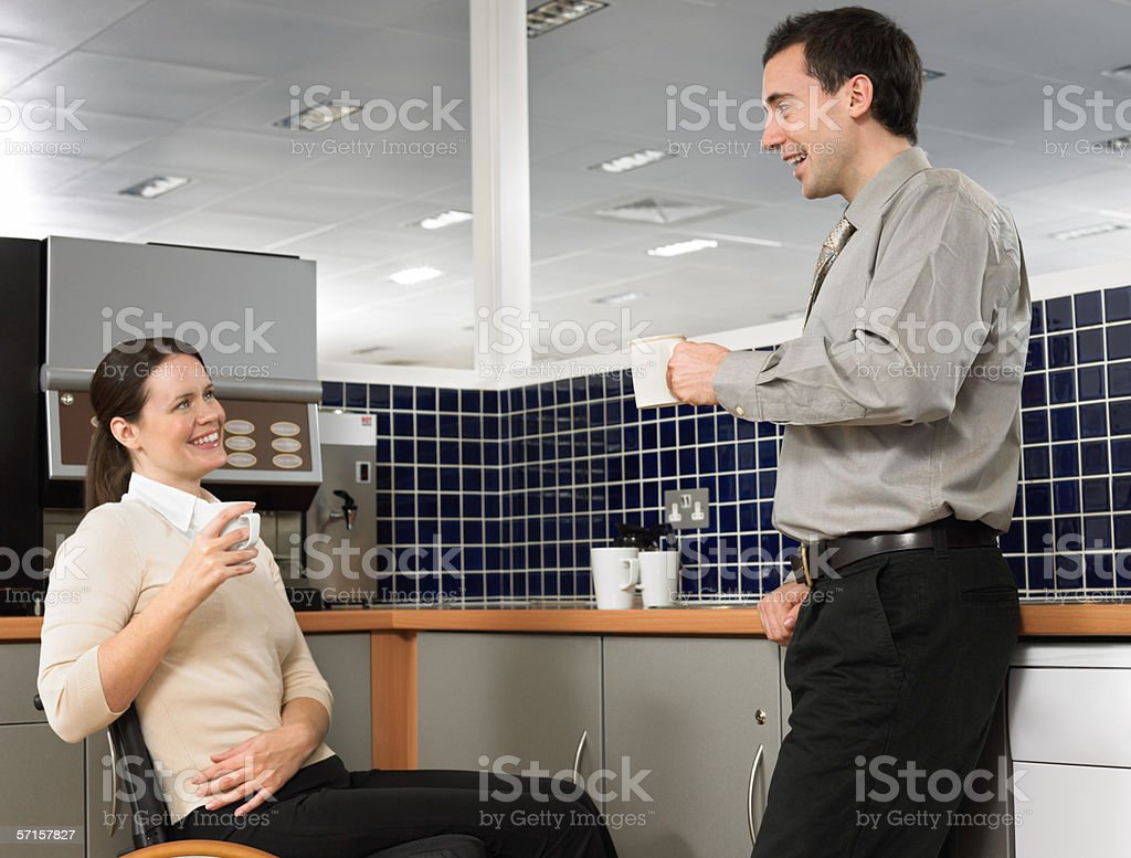 Office workers taking a break royalty-free stock photo