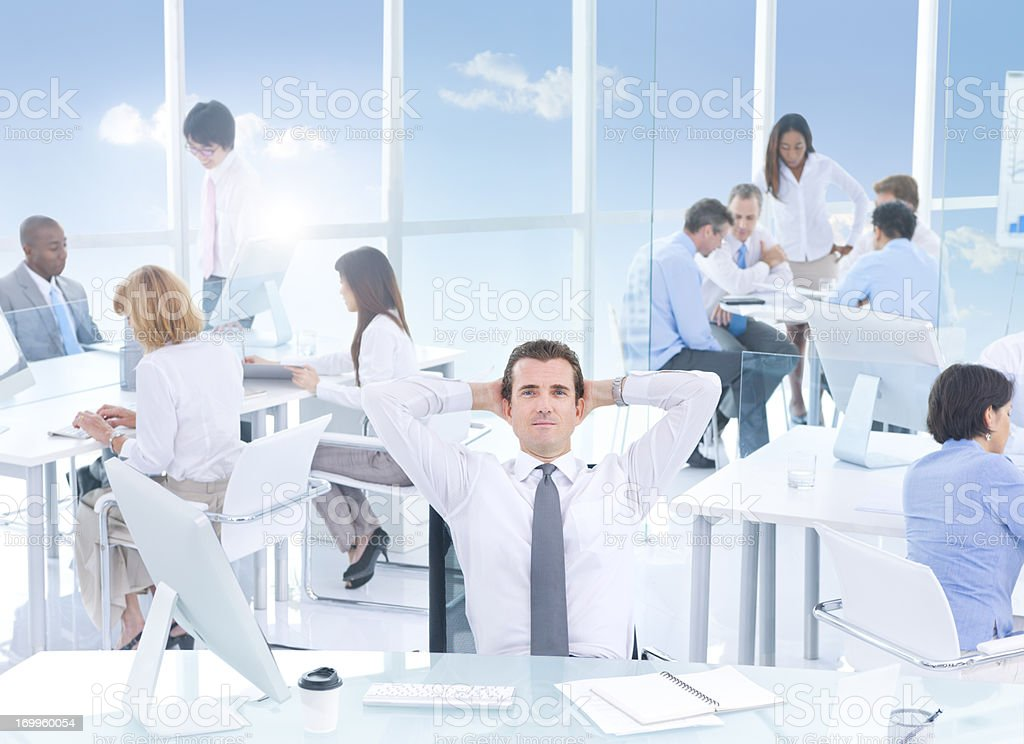 Office working. royalty-free stock photo