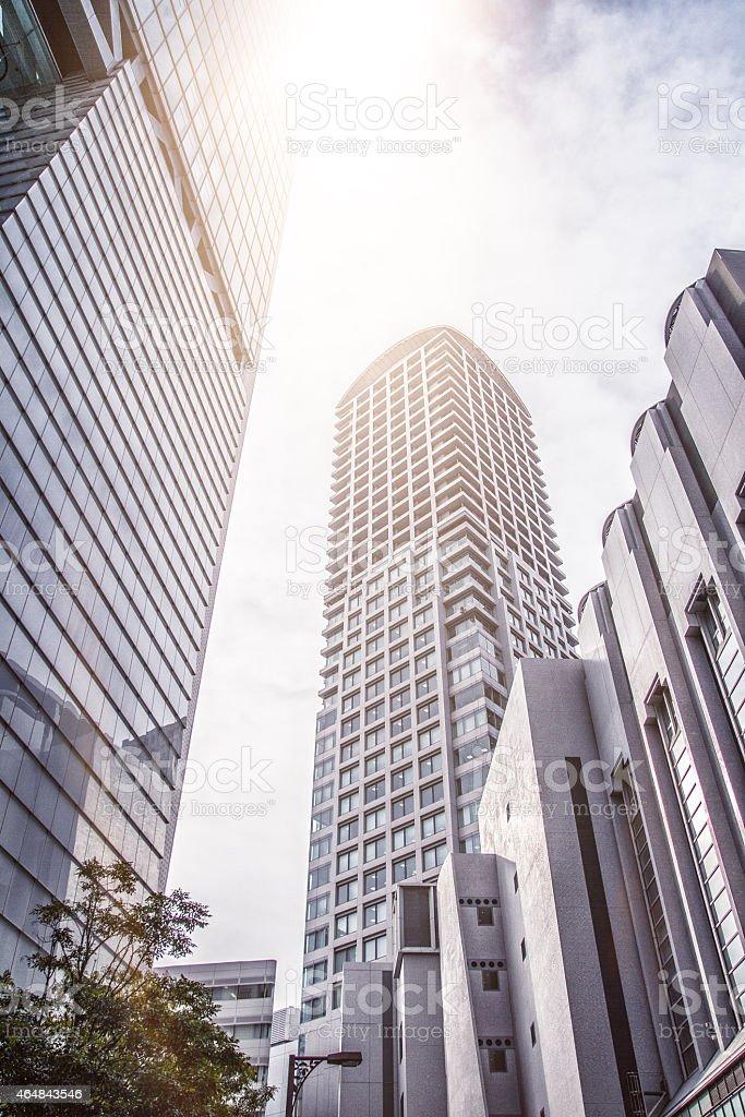Officebuildings in Osaka, Japan stock photo