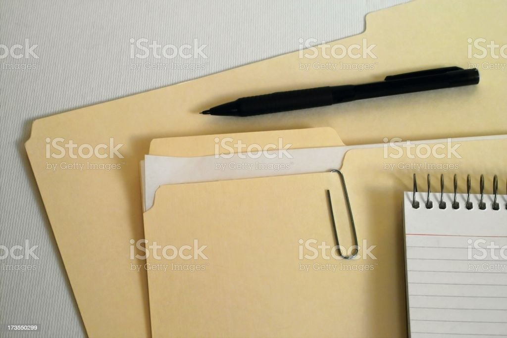 Office-Folder with Pencil royalty-free stock photo