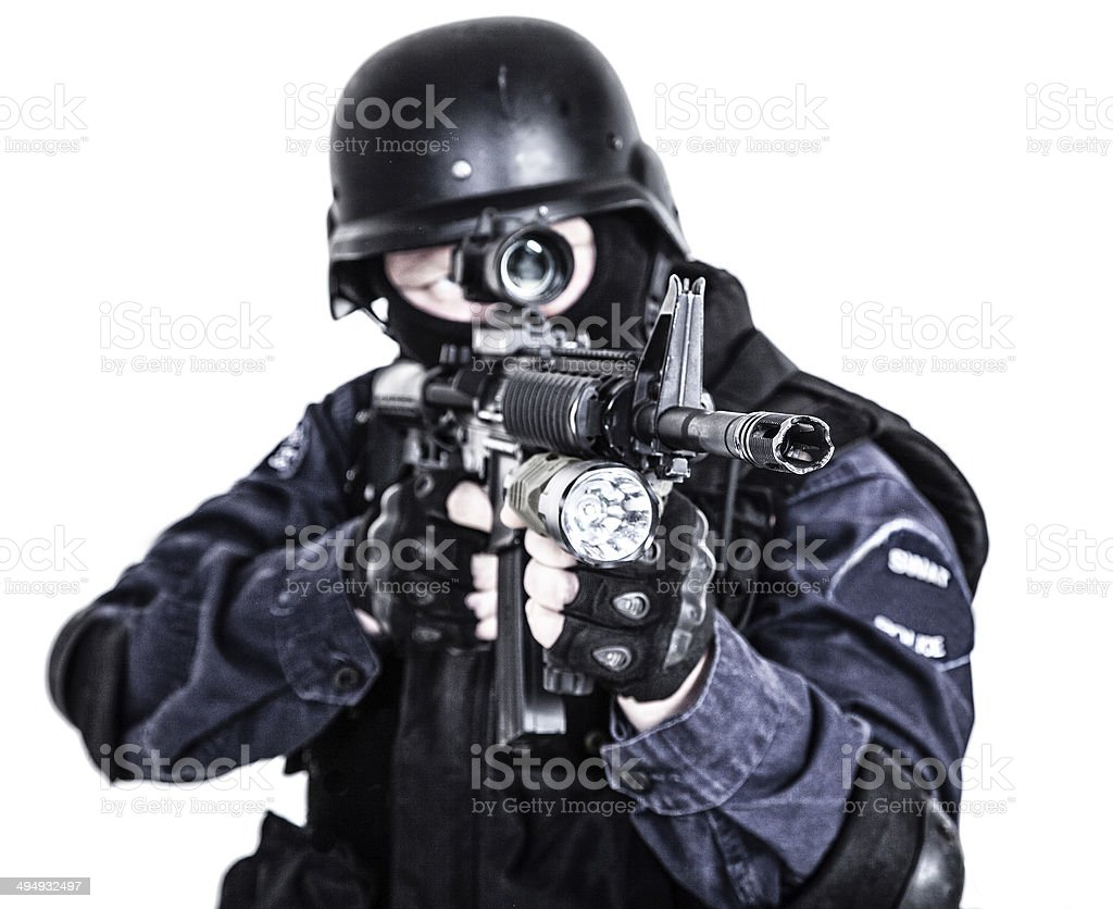 SWAT officer royalty-free stock photo