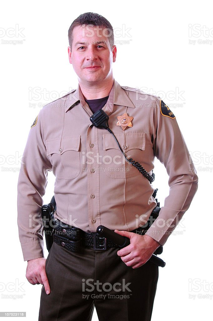 Officer Ready for Action royalty-free stock photo