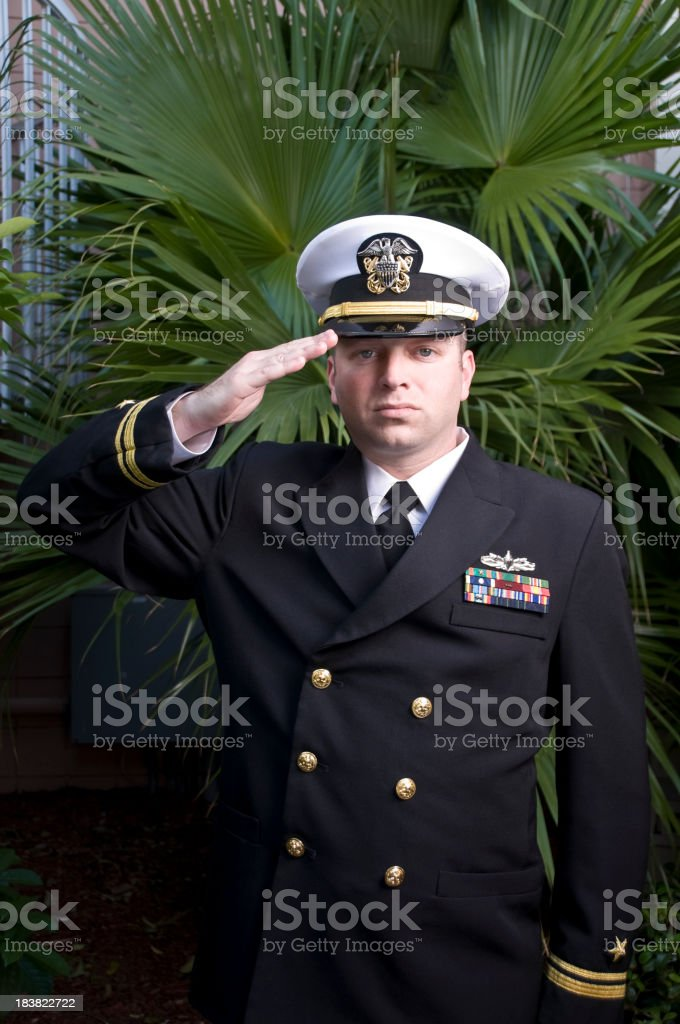 Officer Salute stock photo