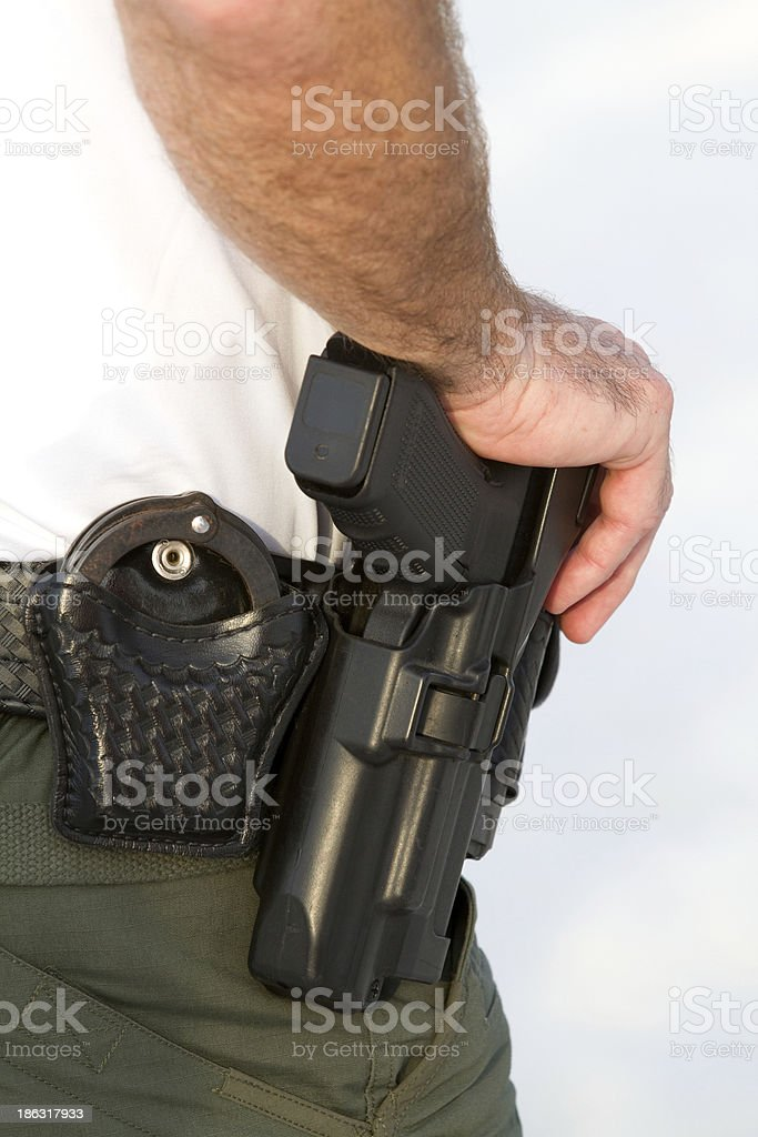 Officers Weapons stock photo