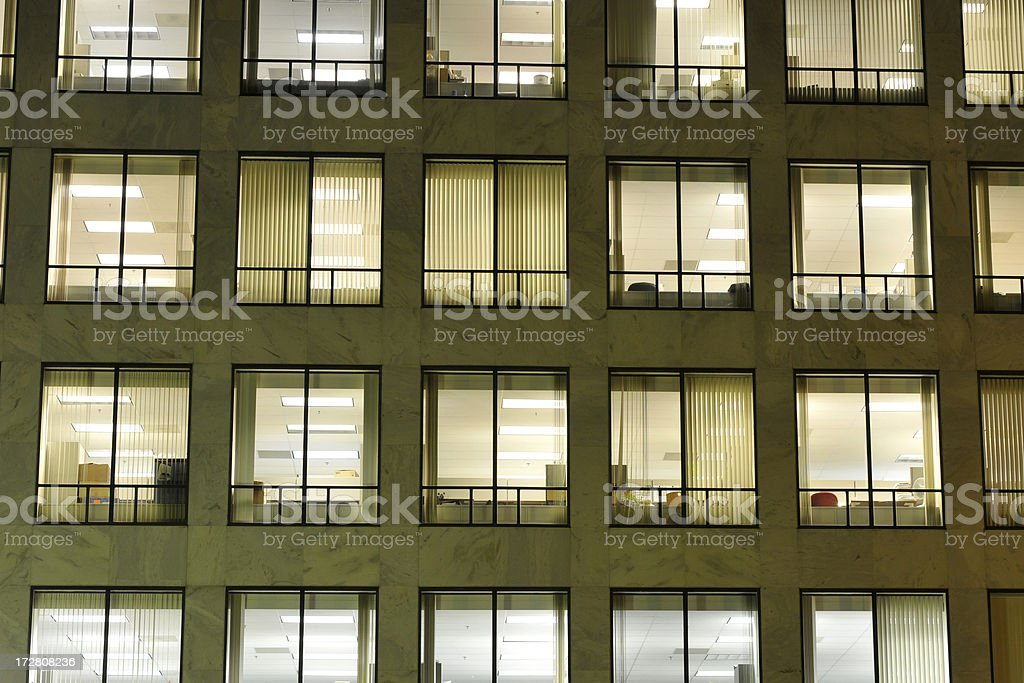 Offices at Night royalty-free stock photo