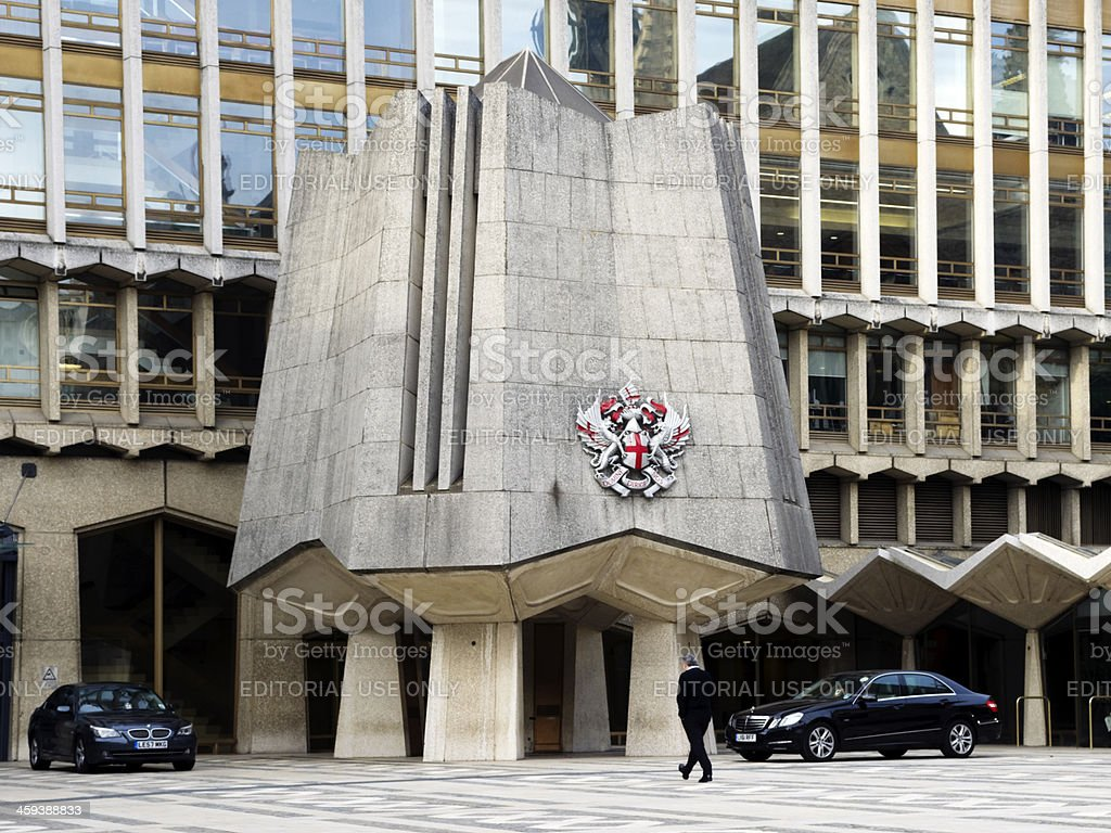 Offices belonging to the Corporation of London royalty-free stock photo