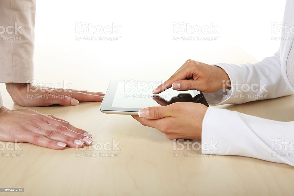 Office-working with digital tablet royalty-free stock photo