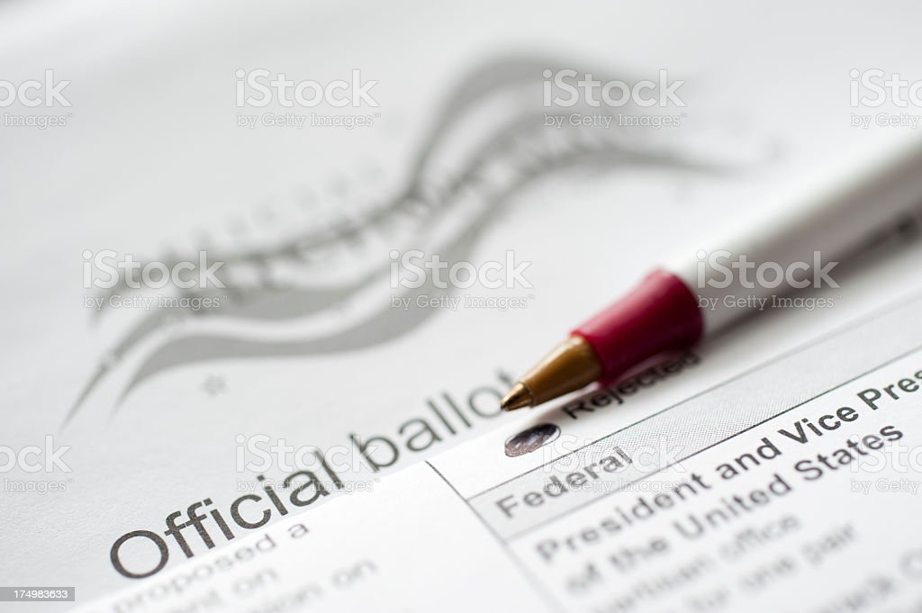 Official Ballot stock photo