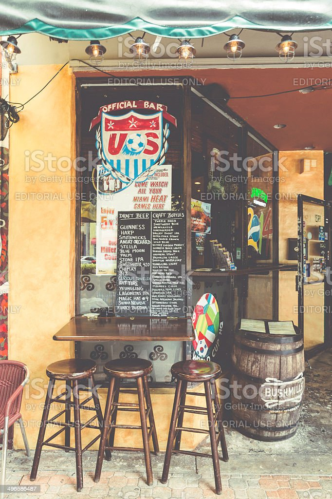 Official Bar of 2014's Soccer World Cup stock photo