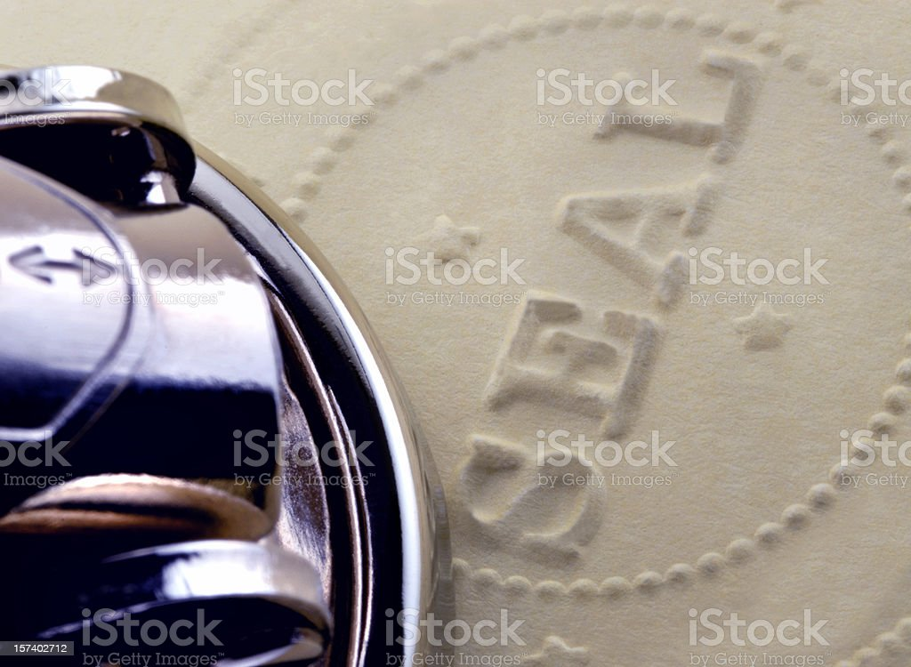 Official Corporate, Accreditation, Approval, or Notary Seal stock photo
