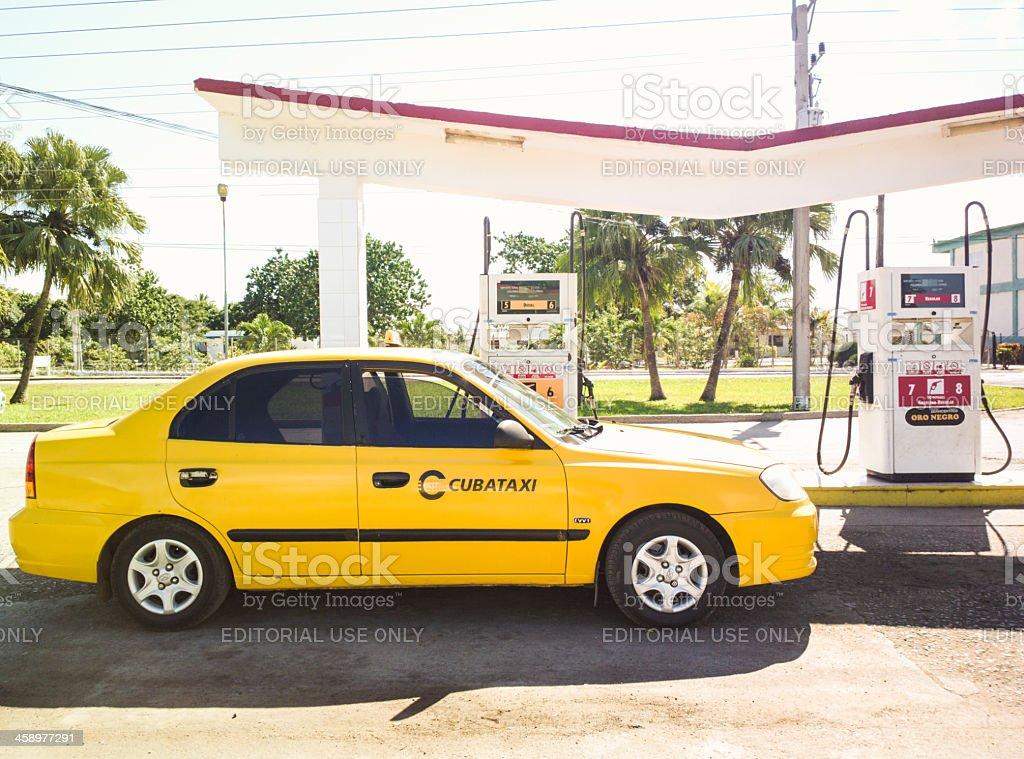 Official Cuban taxi - Cubataxi royalty-free stock photo