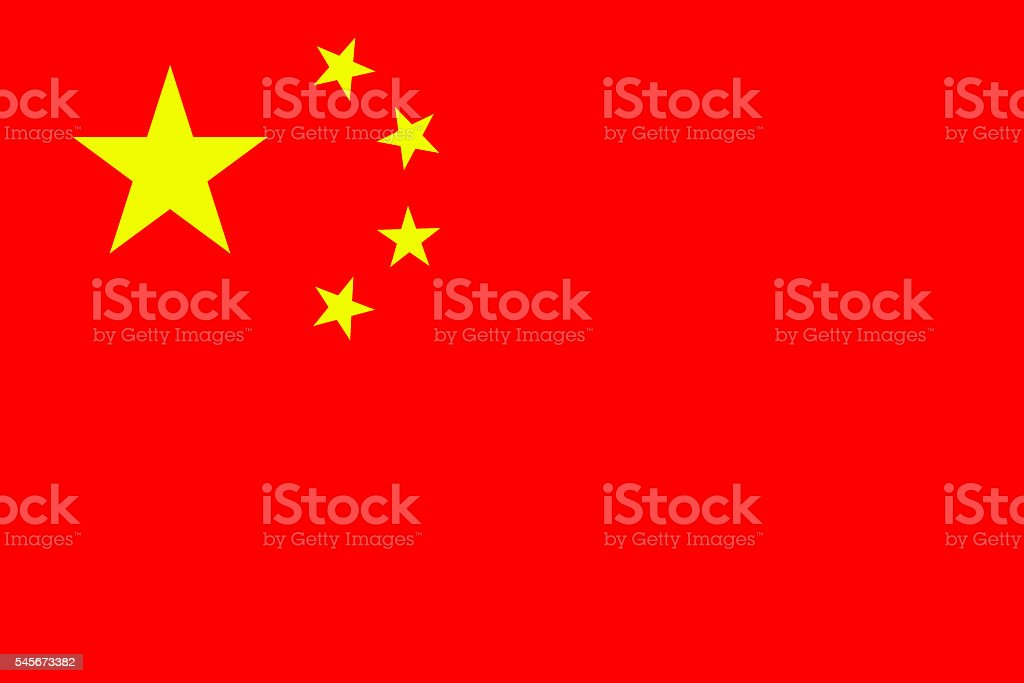 Official flag of China stock photo