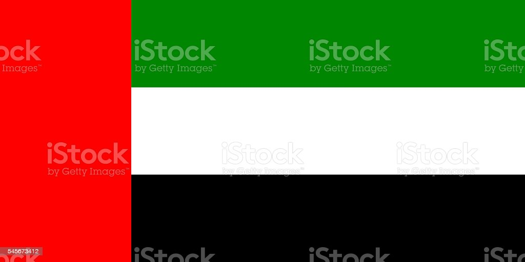 Official flag of UAE stock photo