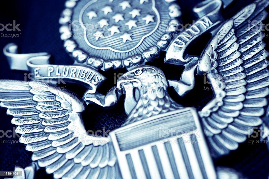 US official pin stock photo