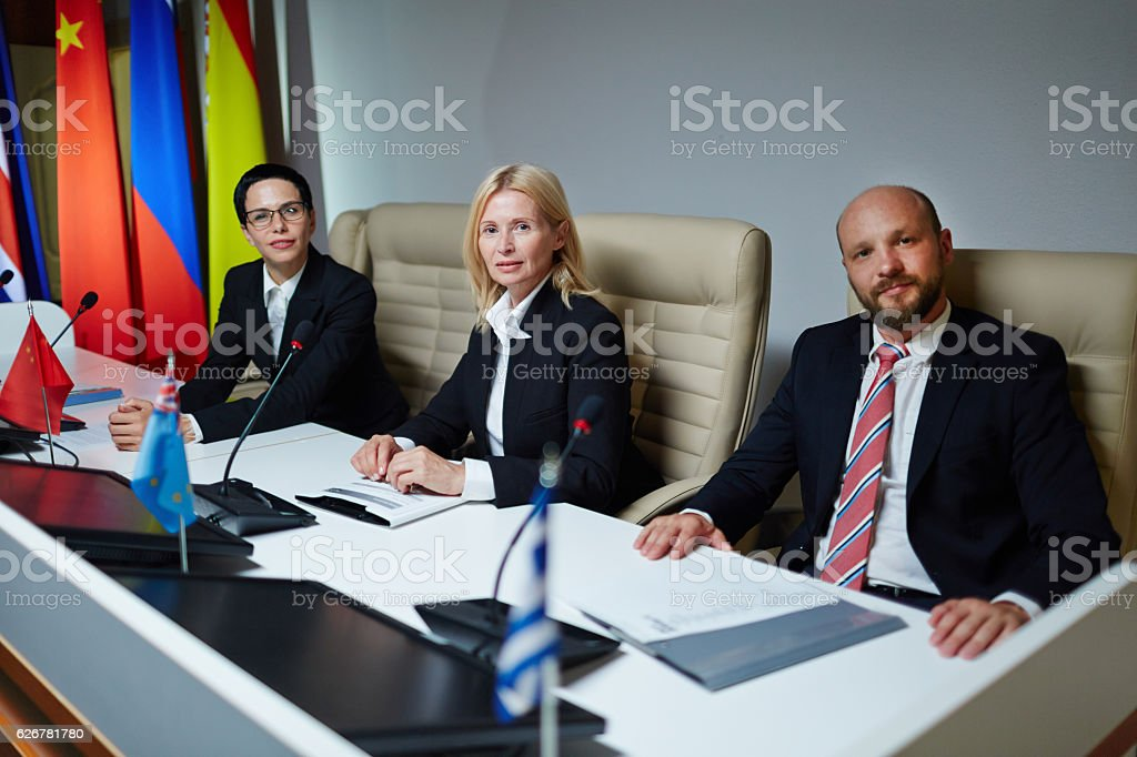 Official political event stock photo