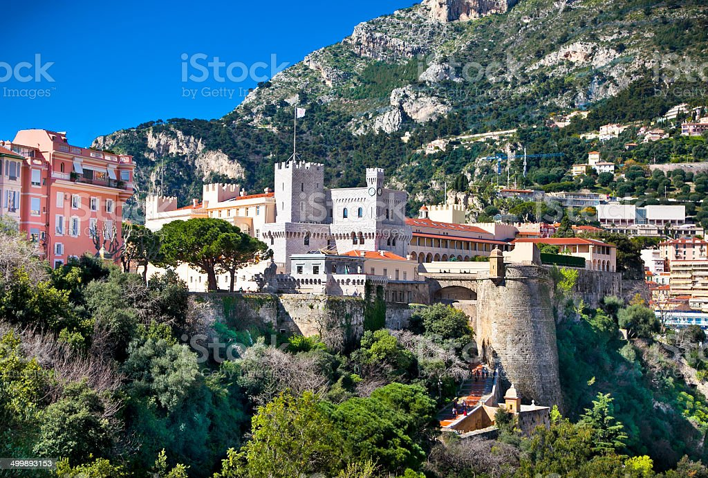 Official residence of the  Monaco Prince. stock photo