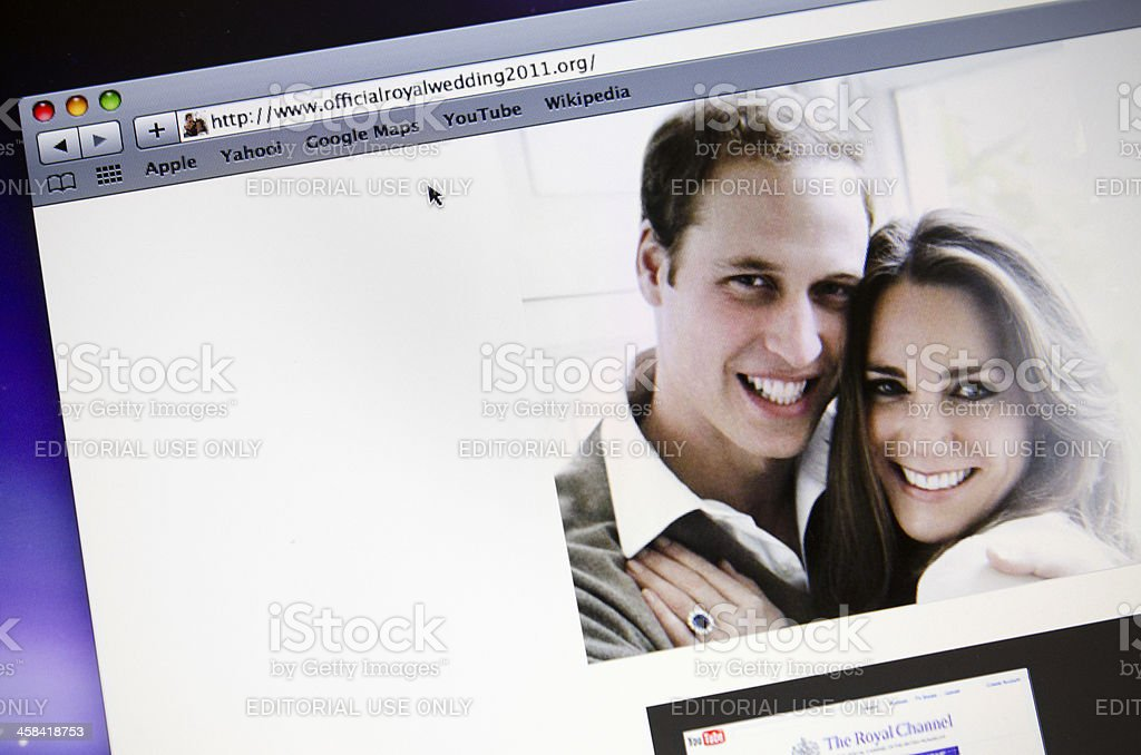 Official royal wedding 2011 page stock photo