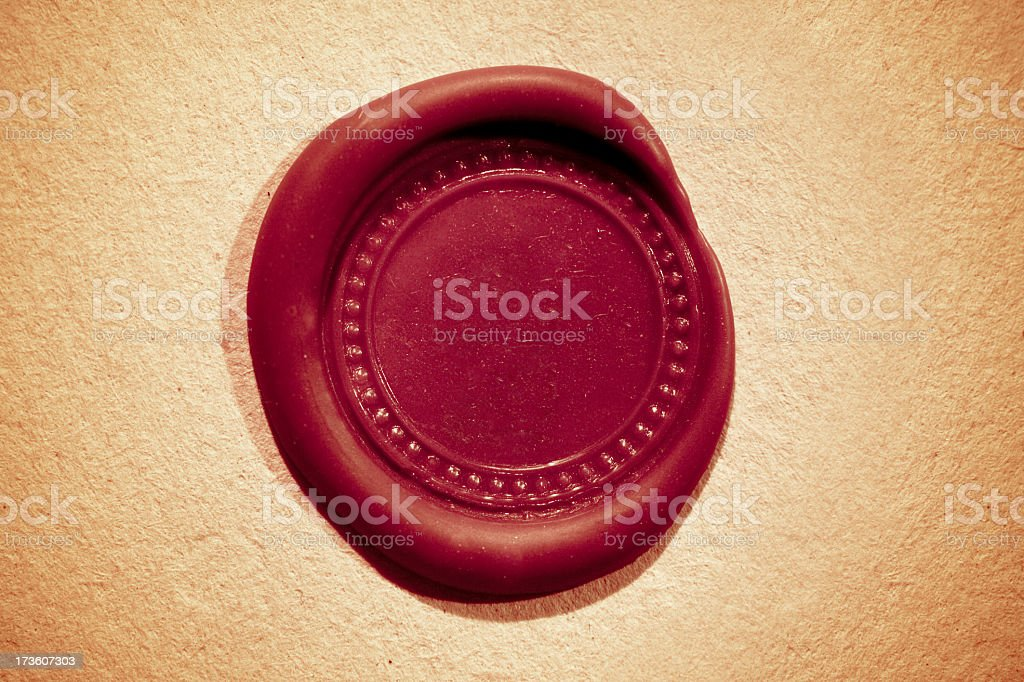 Official Seal stock photo