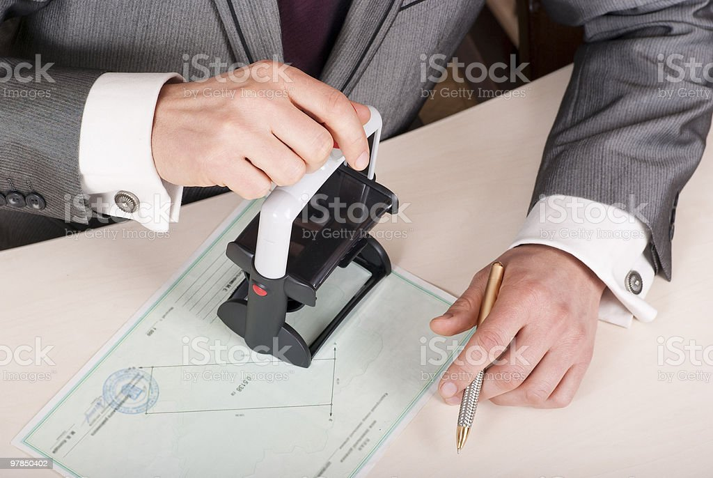 official stamp royalty-free stock photo