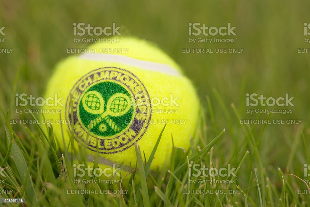 Official Tennis ball for traditional tournament at Wimbledon, London, UK stock photo