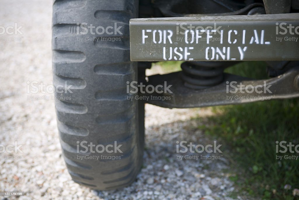 Official use only stock photo
