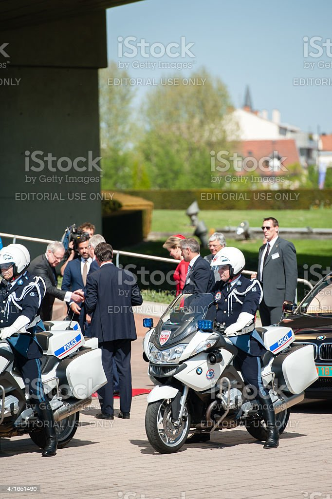 Official Visit to Strasbourg - Royal Visit from Belgium stock photo