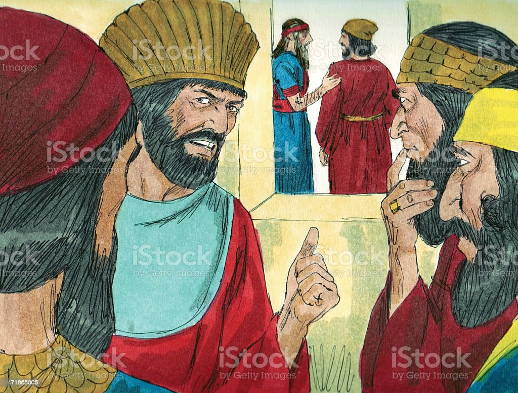 Officials Jealous of Daniel royalty-free stock photo