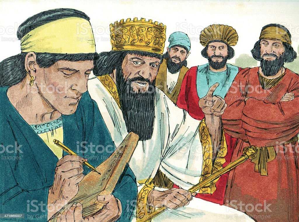 Official's Plan Daniel's Death royalty-free stock photo