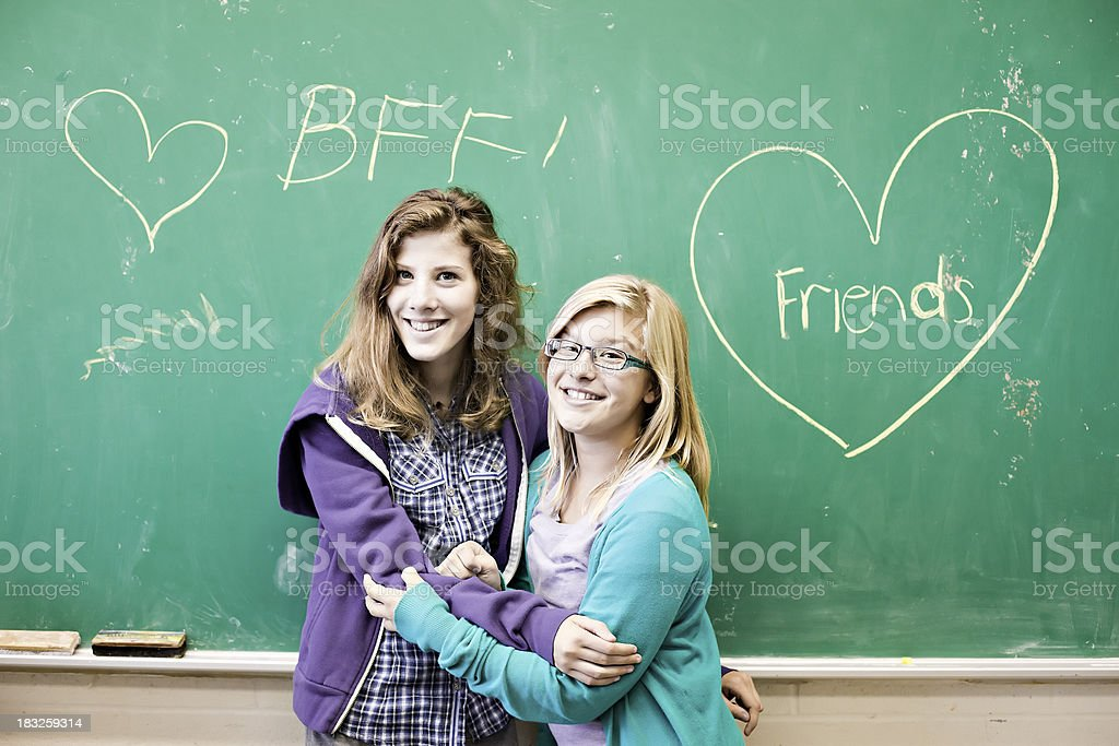 Officialy Best Friends Forever royalty-free stock photo
