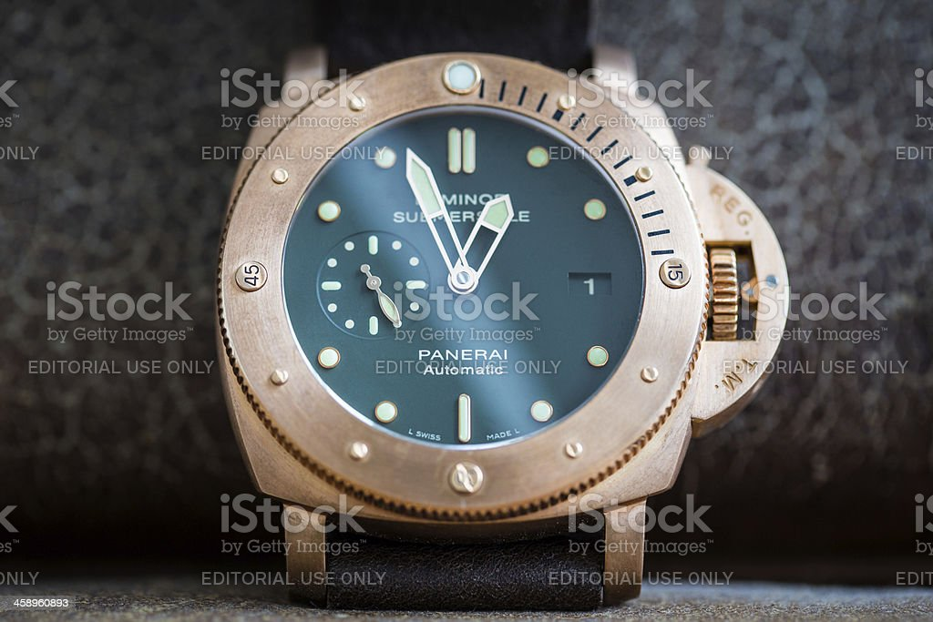 Officine Panerai PAM382 Bronzo Luminor Submersible stock photo
