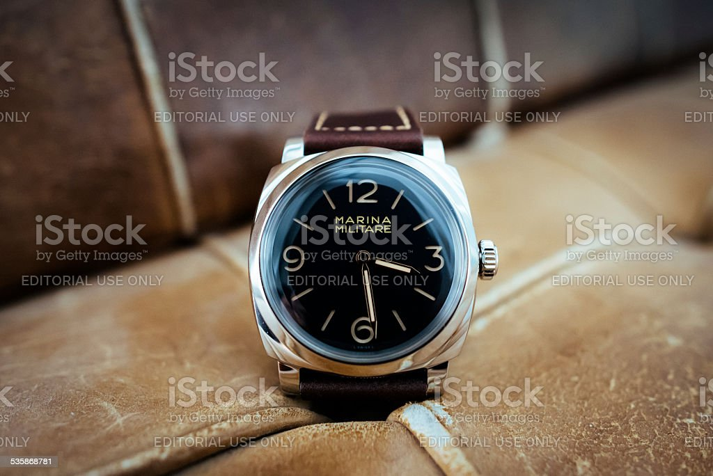 Officine Panerai PAM587 Radiomir 1940 Marina Militare stock photo