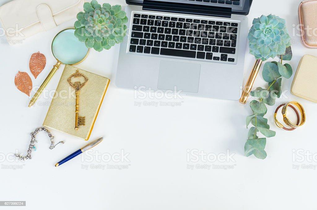Offise desktop scene stock photo