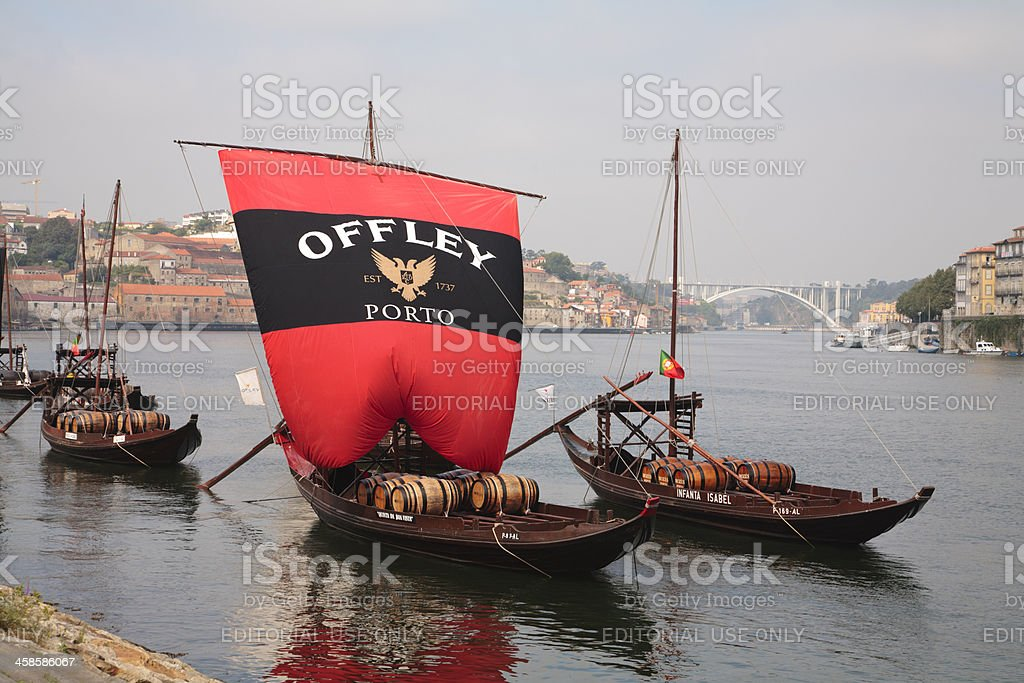 Offley rabelo Boat, Portugal (Gaia, Oporto - Portugal) stock photo
