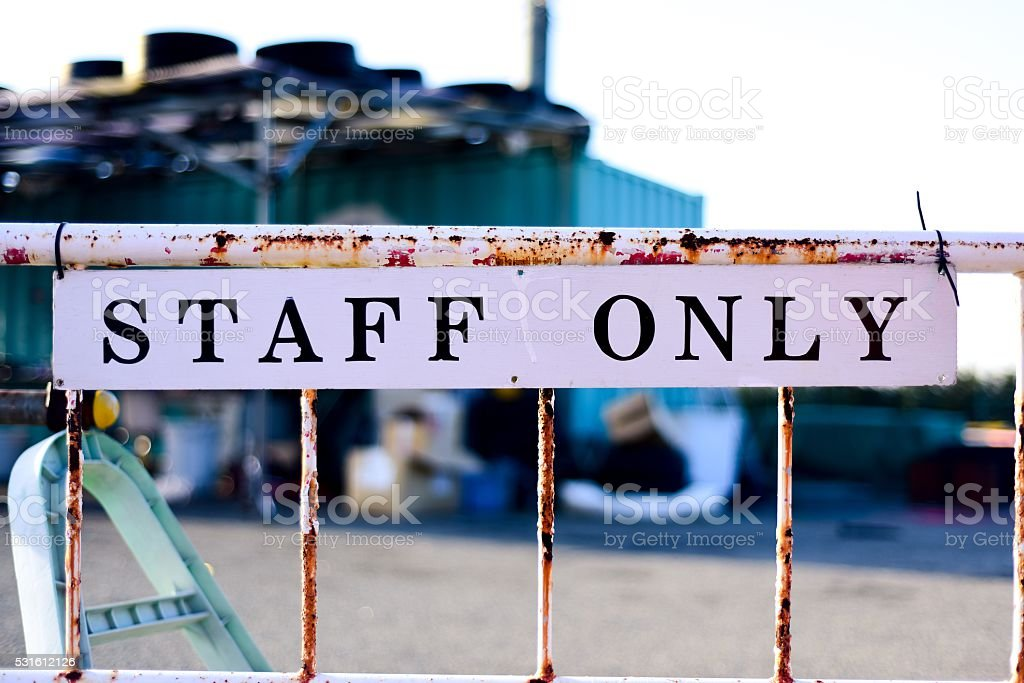 Off-limits fence stock photo