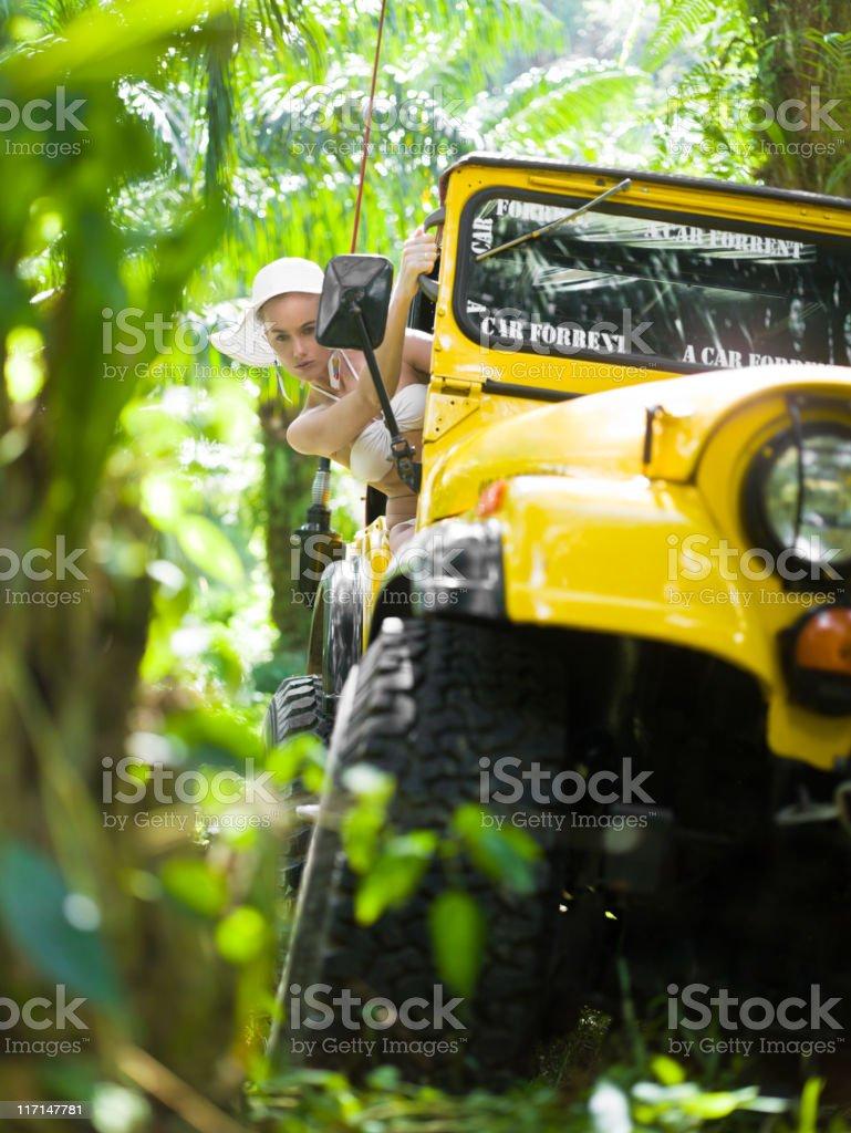 Offroad 4x4 jungle safari stock photo