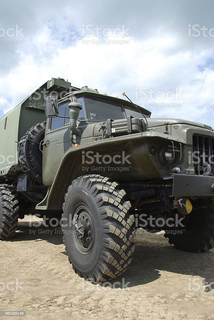 offroad army truck stock photo