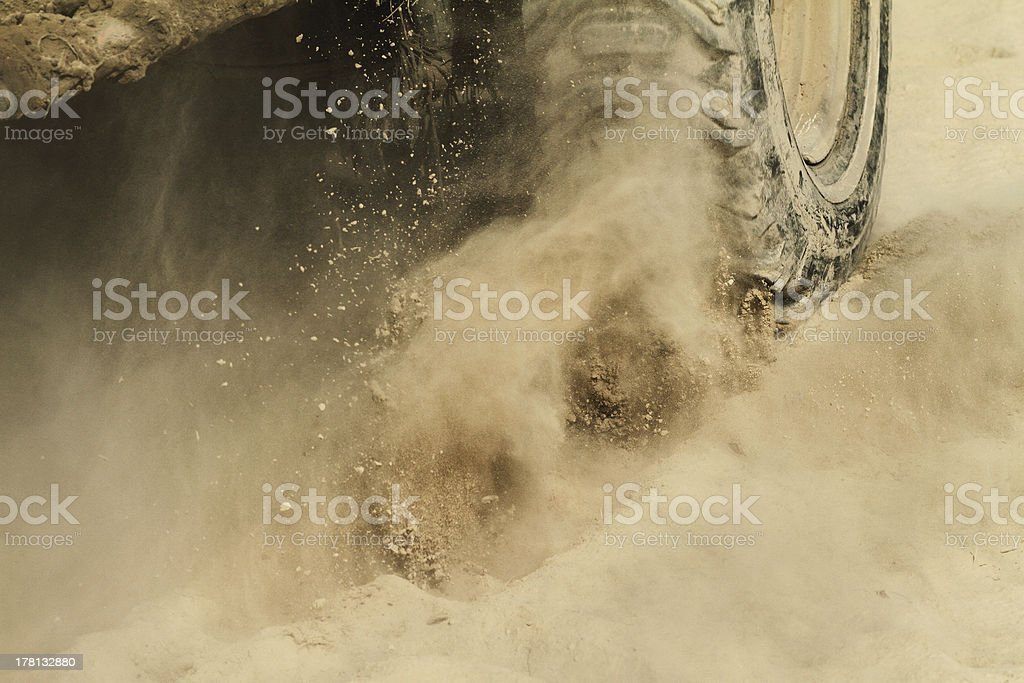 Off-road car detail stock photo