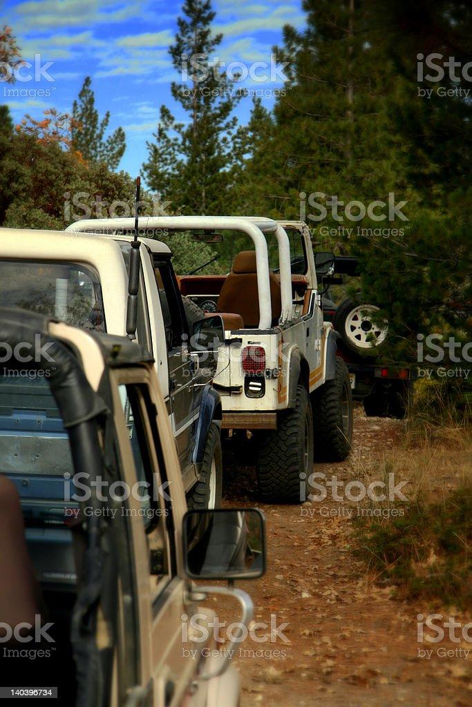 Offroad caravan royalty-free stock photo