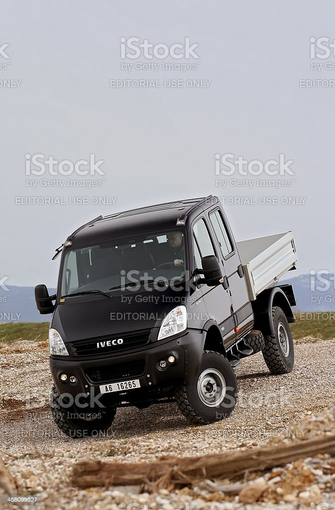 Off-road delivery royalty-free stock photo