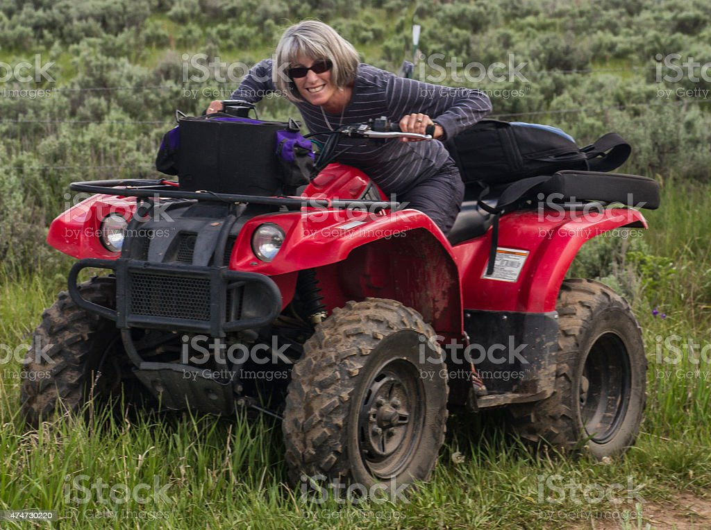 Offroad Girl stock photo